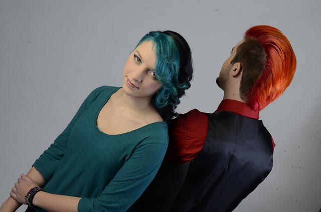 obarvené vlasy