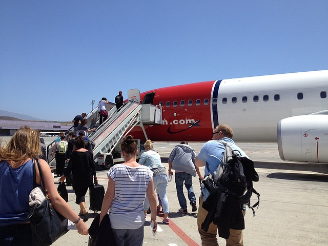 letadlo se schůdky